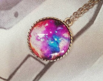 Galaxy Pendant or Keychain