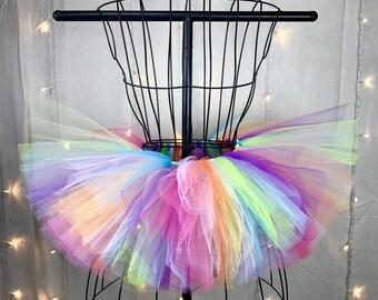 Penelope Tutu - Multicolor - Neon - Pastel Rainbow Tutu - Rave Tutu - Available in Infant, Toddlers, Girls, Teenager, Adult and Plus Sizes