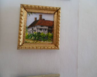 One 48th Scale print. Great Dixter, Sussex, UK. A Tudor manor house.