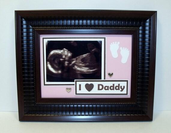 Marco de imagen ecografía ultrasonido mi amor corazón papá