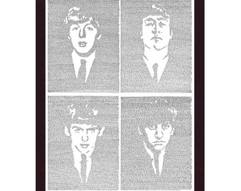 All 4 Beatles ONE PRINT