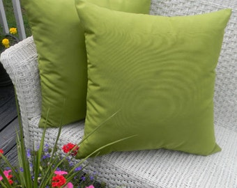 """Set of 2 Indoor / Outdoor Decorative Throw Pillows - 20"""" x 20"""" - CHOOSE SOLID COLOR"""