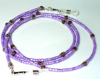 Glasses necklace, glasses band Lilac Silver 75 cm (128)