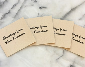 Greetings From San Francisco, set of 4 cards with envelopes