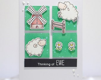Handmade Thinking Of You Card - MFT Thinking Of Ewe.