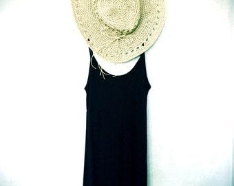 SALE!! Boho Chic Black Sundress Dress, Womens Black Sundress, Black Boho Chic Beach dress, Black Yoga SunDress, Black Pilates Sundress