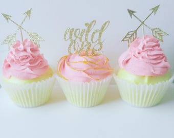 wild one,wild one cupcake toppers,boho toppers,1st birthday
