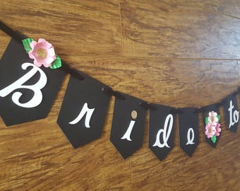 Bride to Be Banner, Bridal Shower Decor, Bachelorette Party Decor, Boho, Bohemian Theme, Ms. To Mrs,