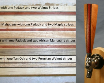 Wood Beer Tap Handles - Different Combinations of Wood - 6 Inches Tall - Made To Order