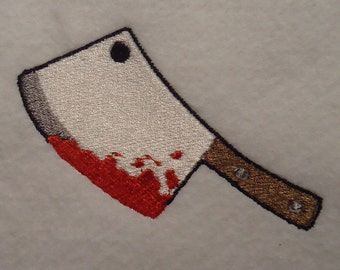Bloody cleaver- Halloween embroidery design file