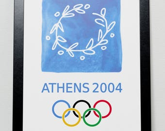 Athens Olympic Games 2004 Greece Poster