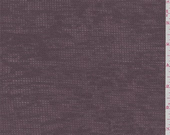 Dusty Plum Thermal T Shirt Knit, Fabric By The Yard