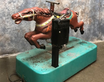 Thunder Sandy Horse Coin Operated Kiddie Carnival Ride Store Window Display b, Coin Operated Ride, Kiddie Ride, Mechanical Horse