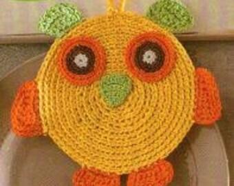 Pot Holder - OWL -