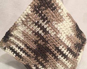 dish towel crochet 100  % cotton