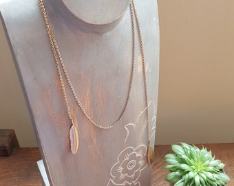 Gold Feather Lariat