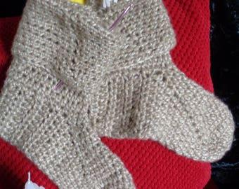 Crocheted Slipper Socks/Bed Socks