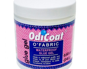 OdiCoat, Glue Gel, Fabric Waterproof - O'Fabric ODIF  - Made in France, 8.68 ounce ASDM D-4236 Compliant - No Solvent or Acid