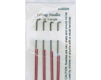 Wistyria Felting Needles 4 Size 38 Triangle
