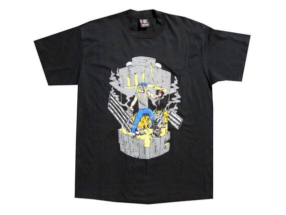 Vintage New Titans on the Bloc 91 Sepultura Napalm Death SOIA T-Shirt