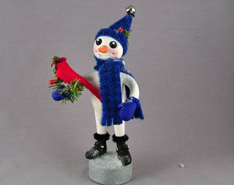 Polymer Clay Frosty the Snowman Christmas Figurine