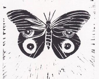 Linogravure - Papillon - tirage limité