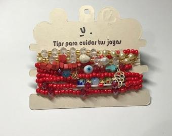 Artisan -Bohemian Urban Chic Bracelet - Set of 8 #B002