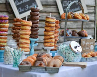 Unfinished Doughnut Stands, Wedding Doughnut Stands, Doughnut holder, Donut Stand, Doughnut Party,Doughnut Wall, Breakfast Bar