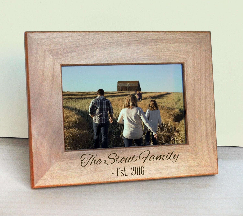 Marco grabado madera cuadro marco - regalo para mamá - regalo del ...