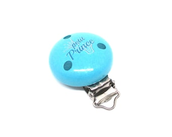 Little Prince - Turquoise wooden clip