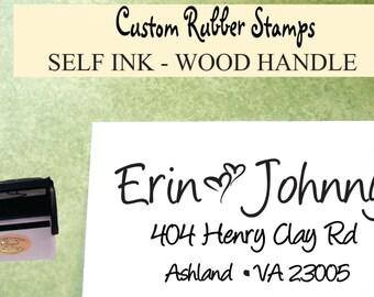 wedding stamp -  Return Stamp - Self ink family stamp - return address stamp -address stamp - custom rubber stamp
