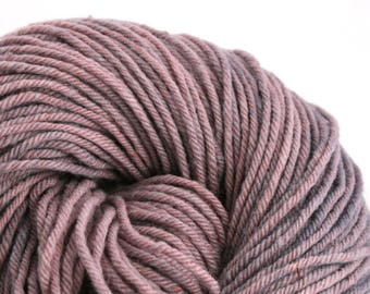 Hand Dyed Aran weight mini Empire Rambouillet Wool 213 yds 4oz Lavender
