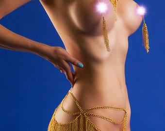 Nipple piercing alternative - Nippleicious NON Piercing Nipple Jewellery - Erotic Nipple Ring - Nipple clamps - Sexy body jewelry - Roxolana