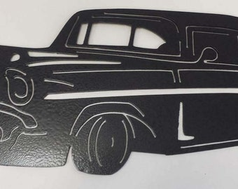 Metal cutout of 57 Chevy Wall Hanging-Home Decor