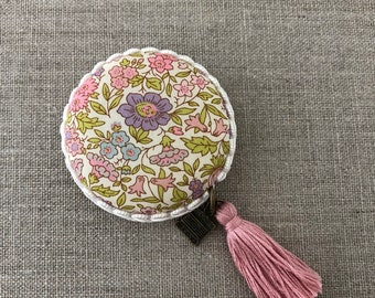 Handmade Macaron Measuring tape made with Liberty of London fabric #38
