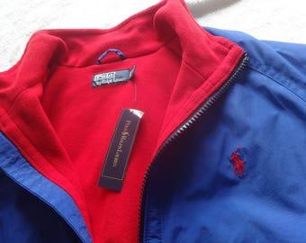 Vintage NWT L Polo Ralph Lauren fleece lined jacket