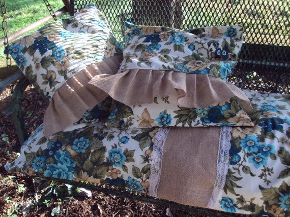 Covered Porch Swing Glider Wicker Settee Slip Covers