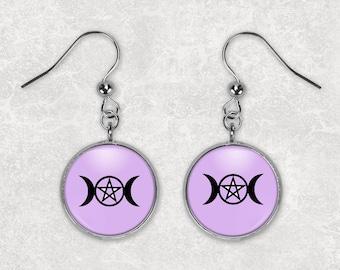Triple Moon Earrings/ Triple Goddess Earrings/ Wiccan Earrings/ Triple Moon Jewelry/ Moon Earrings/ Pagan Earrings/ Women's March