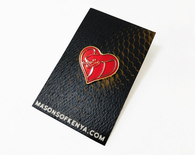 Love Cobra Enamel Pin (Ships early June)