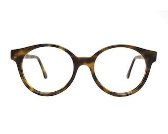 jade brown tortoise vintage eyeglasses - oversized round glasses frames - sting jade matte - MOD vintage eyewear shop