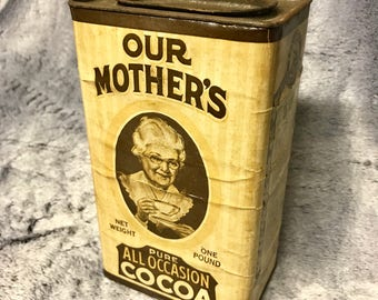 Vintage Our Mother's Cocoa - One Pound Tin - 1930s / 40s