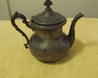 early 1900s Antique Forbes Silver Co. Silver Plate (Quadruple) Teapot