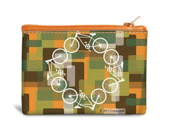 Bike Coin Bags - Canvas