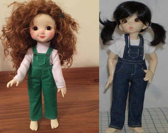 Overalls to fit Little Fee, Nikki Britt Mini Pepper Annie, Adeline & Liam, similar size Tiny BJDs