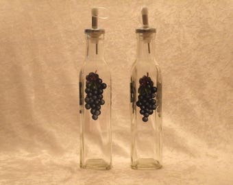 GRAPE oil and vinegar bottles