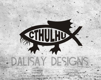 Cthulhu Fish Vinyl Decal
