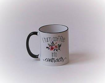 Coffee into Contracts Mug