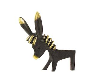 Walter Bosse Large Donkey - Vintage Mid Century Original Austrian 1960s Brass Donkey Figurine