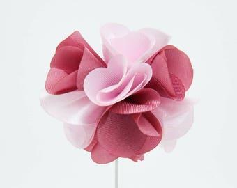 Karen Pink Flower Lapel Pin