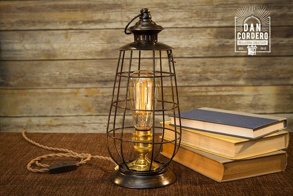 Edison Lantern Table Lamp Desk Lamp Night Light Bed